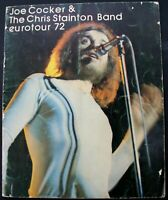 Joe Cocker And The Chris Stainton Band Program European Tour 1972
