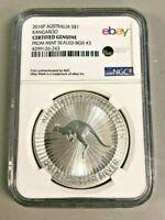2016 Silver Australia Kangaroo 1 oz. .999 fine NGC eBay Label 1oz Coin