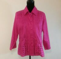Chicos Womens Pink Top Blouse Size 2