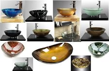 Bathroom clock room countertop Tempered glass basin sink ( Stunning Quality )