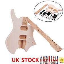 More details for electric guitar diy kit build your own guitar basswood body maple neck d0u2