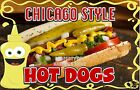 Chicago Style Hot Dogs Decal 8