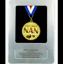 New in Bag WORLDS GREATEST NAN Award Medal in Tin Case