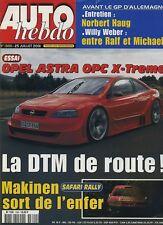 AUTO HEBDO n°1300 du 25 Juillet 2001 OPEL ASTRA OPC XTREME MG ZT190