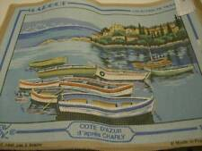 Margot Cote D'Azur Needlepoint Canvas #1205- Boats/Water Scene 30x40cm (11.75x15