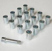 16x FORD ALLOY WHEEL SLIM TUNER NUTS 17mm HEX KEY M12 x 1.5 FOCUS KA FIESTA KUGA
