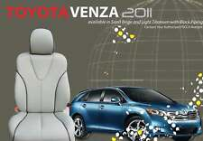 2009 - 2014 Toyota Venza Leather Interior Seat Cover Set - Lt. Grey
