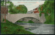 CHAMBERSBURG PA King Street Bridge Vintage Town View Postcard Early Old PC