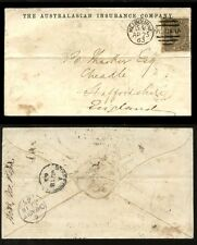 AUSTRALIA 1863 VICTORIA 6d ADVERTISING ENVELOPE INSURANCE CO MELBOURNE DUPLEX