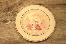 Vintage Antique Ceramic Childrens Baby Alphabet ABC Feeding Dish 1800's Braille