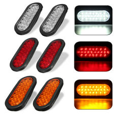 2X6'' 24 LED Oval Truck Trailer Stop Turn Tail Brake Side Marker Signal Light US