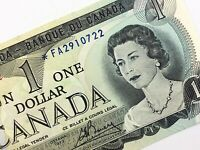 1973 Canada One 1 Dollar Circulated FA Replacement Lawson Bouey Banknote R013
