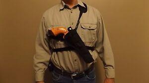 """R/L CHEST Shoulder Holster DAN WESSON Revolver .357 / .44 w/ 6""""  / 8"""" barrel"""