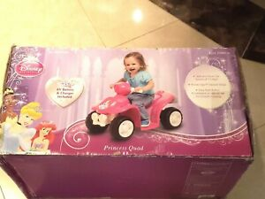 Disney Princess Ride-On Toy 6V Girls Battery-Powered Quad Kids Riding Outdoor