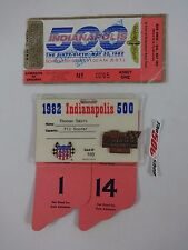 1982 Indianapolis 500 Bronze Pit Badge & Ticket Tom Soyrs Timing and Scoring