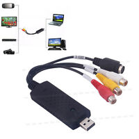 USB 2.0 Audio Video VHS to DVD Converter RCA Capture Cable Recorder PC Adapter