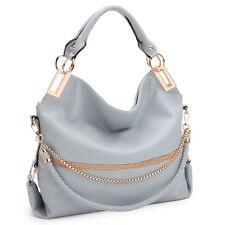Women Handbags Hobo Large Shoulder Bag Purse w  Designer Weaved Chain Strap f69674ea6af87
