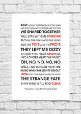 The Libertines - Music When The Lights Go Out - Song Lyric Art Poster - A4 Size