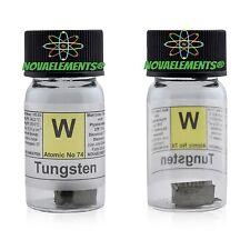 Tungsteno metallo elemento 74 W 5g 99,99% pezzi in fiala di vetro con etichetta
