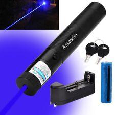 Blue Purple Laser Pen Visible Beam 405nm Lazer Pointer Light 18650+Battery+Char