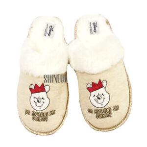 New Winnie The POOH  Ladies slippers mules indoor cosy slip on shoe PRIMARK GIFT