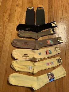 Vtg Nwt 8 Dress Socks  stretch nylon, Acrylic- Haband, JM Fields, Presidential
