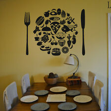 Wall Vinyl Sticker Room Decals Mural Design Art Pizza Slice Food Kitchen bo1373