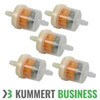 5x Kraftstofffilter Vorfilter Filter Benzinfilter Transparent 6mm PKW Quad Rolle