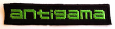 ANTIGAMA - Logo (GREEN) PATCH embroidered logo patch NAPALM DEATH BRUTAL TRUTH