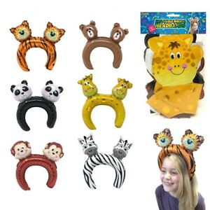 12 Inflatable Jungle Headbands - Boys Girls Kids Nativity Play Book Week Outfit