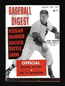 1954 Baseball Digest (Aug), Chicago White Sox Bob Kegan - Near Mint