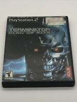 TERMINATOR DAWN OF FATE PS2 Playstation 2 COMPLETE w/ Case & Manual - Tested