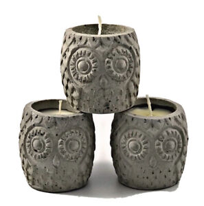 3Pcs Highly Scented Candles Nordic Grey Owl Gift Set Candle Handmade Luxdecor6