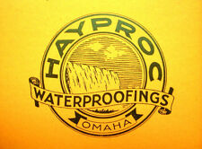 Haynes Products ASBESTOS Building Coatings Waterproofing HAYPROC Catalog 1950's