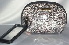 Victorias Secret Supermodel Snow Leopard Attached Mirror Bag Makeup case Nwt