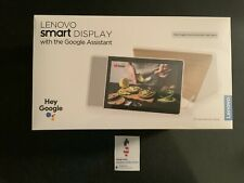 "Lenovo Smart Display 10"" with Google Assistant Bamboo/White New and Sealed"