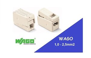 WAGO 224-112 Two Pole Lighting Connectors x2 x6 x10 x20 Cage clamp - push fit