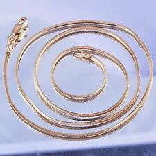 500mm Long Necklace Womens Jewellry Rose Gold Filled Gold Snake Chain