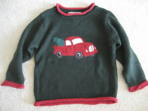 Red Truck Moving Co. Boys Youth Long Sleeve Crewneck Sweater Size 4 Green