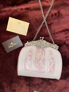 Patricia Nash Pink And White Clutch Luxury Bag
