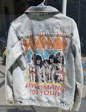 Def Leppard graphic acid wash denim jean jacket blazer women's size SMALL shirt