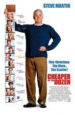 CHEAPER BY THE DOZEN MOVIE POSTER 2 Sided ORIGINAL FINAL 27x40 STEVE MARTIN