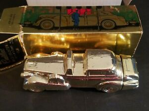 NEW FULL BOTTLE AVON SOLID GOLD CADILLAC CAR DECANTER 6 OZ EXCALIBUR AFTER SHAVE