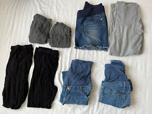 Maternity Bottoms Bundle - Jeans Leggings Skirt Over Bump Medium Large 14