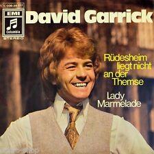 "7"" DAVID GARRICK Rüdesheim liegt nicht an der Themse / Lady Marmelade COLUMBIA"