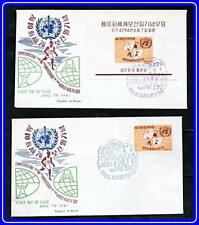 KOREA SOUTH 1961 WORLD HEALTH DAY + S/S on FDC SC#322-a MEDICINE
