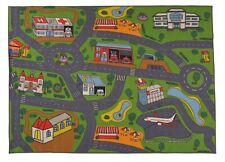"NURSERY EDUCATIONAL KIDS RUGS TRAFFIC DESIGN CHILDREN PLAY RUG 78"" x 110"" RUG"