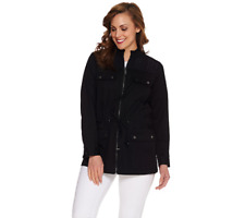 Linea By Louis Dell'Olio Anorak Jacket With Eyelet Detail Size S Black Color