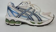 Women's Asics Gel Kayano 15 Shoes Sz 5.5  White Silver Blue lime green