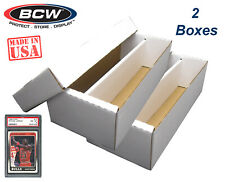 10 Ten hb100 BCW Brand 100 Card Storage Plastic Case Hinged Snap Box